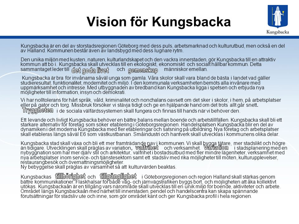 Vision för Kungsbacka