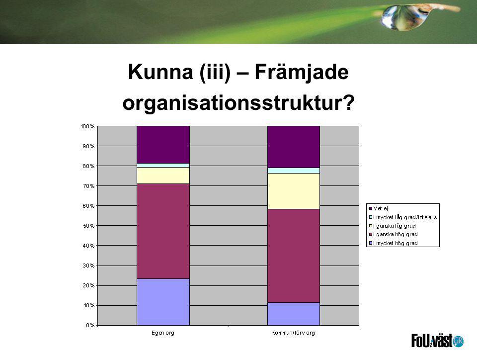 Kunna (iii) – Främjade organisationsstruktur