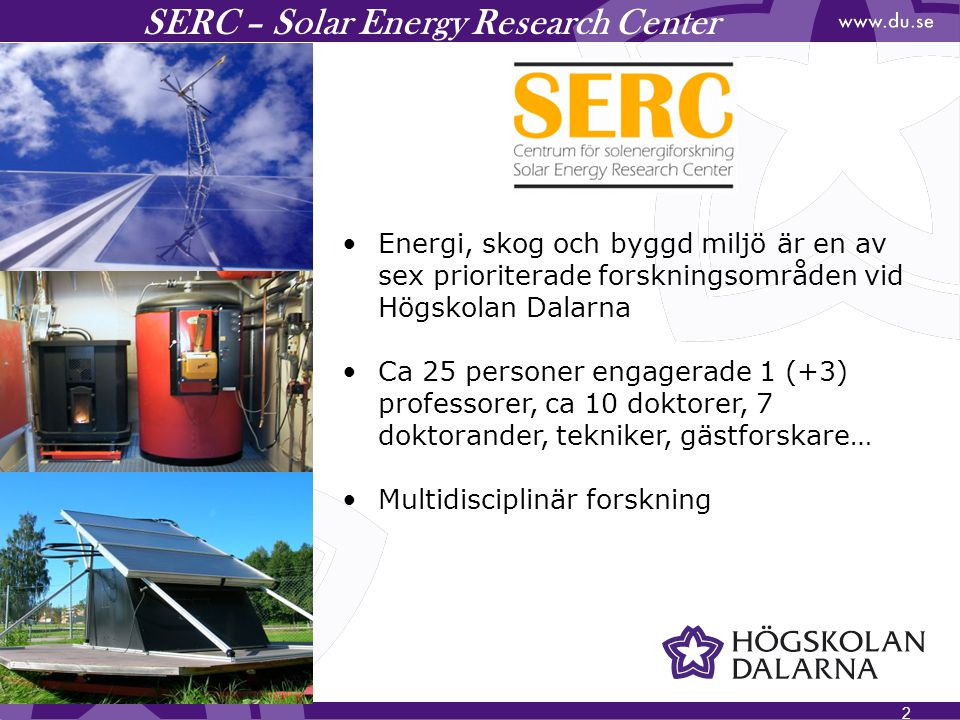 SERC – Solar Energy Research Center
