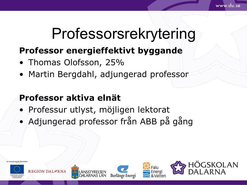 Professorsrekrytering