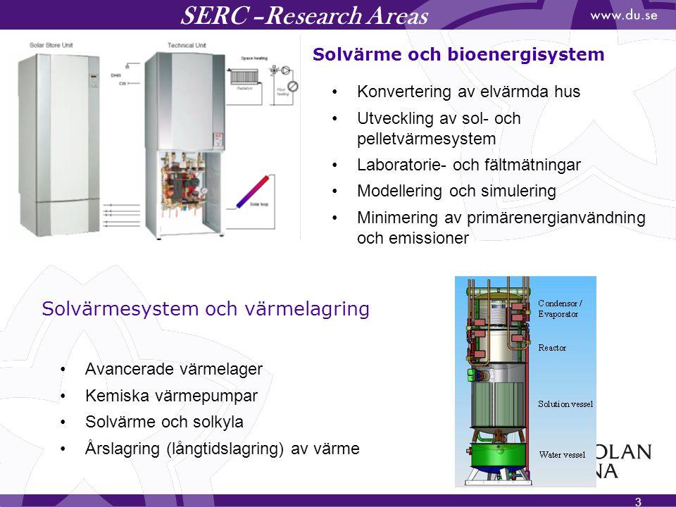SERC –Research Areas Solvärmesystem och värmelagring