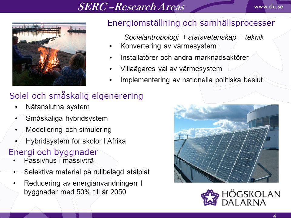 SERC –Research Areas Energiomställning och samhällsprocesser