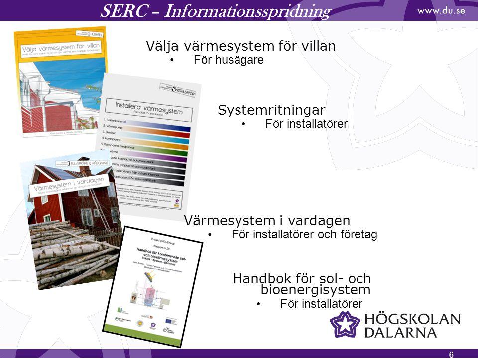 SERC – Informationsspridning