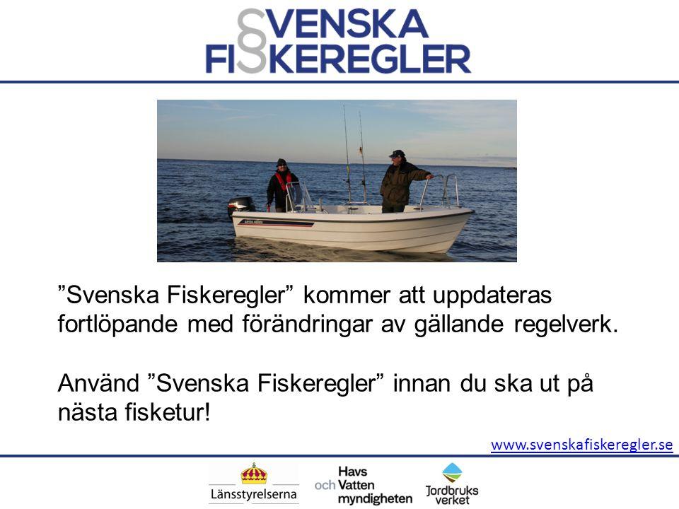 Använd Svenska Fiskeregler innan du ska ut på nästa fisketur!
