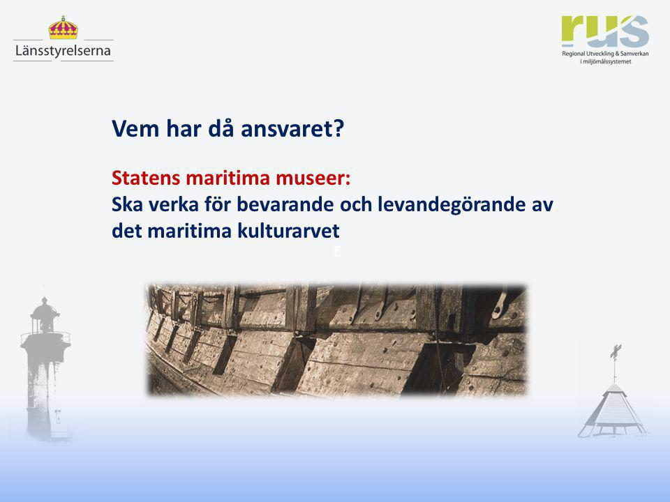 Vem har då ansvaret Statens maritima museer: