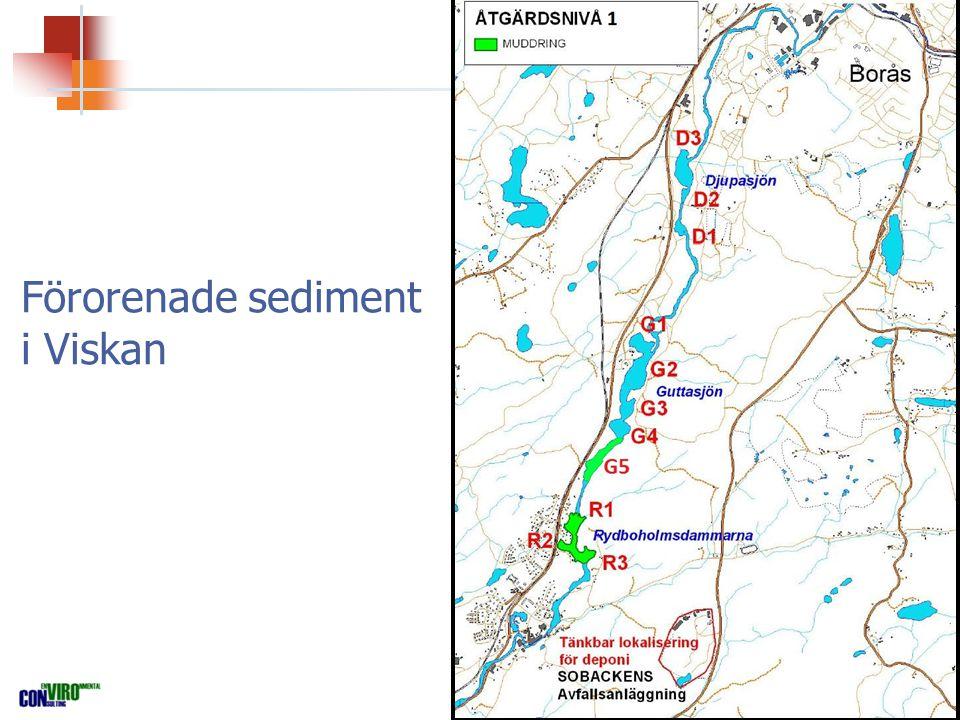 Förorenade sediment i Viskan