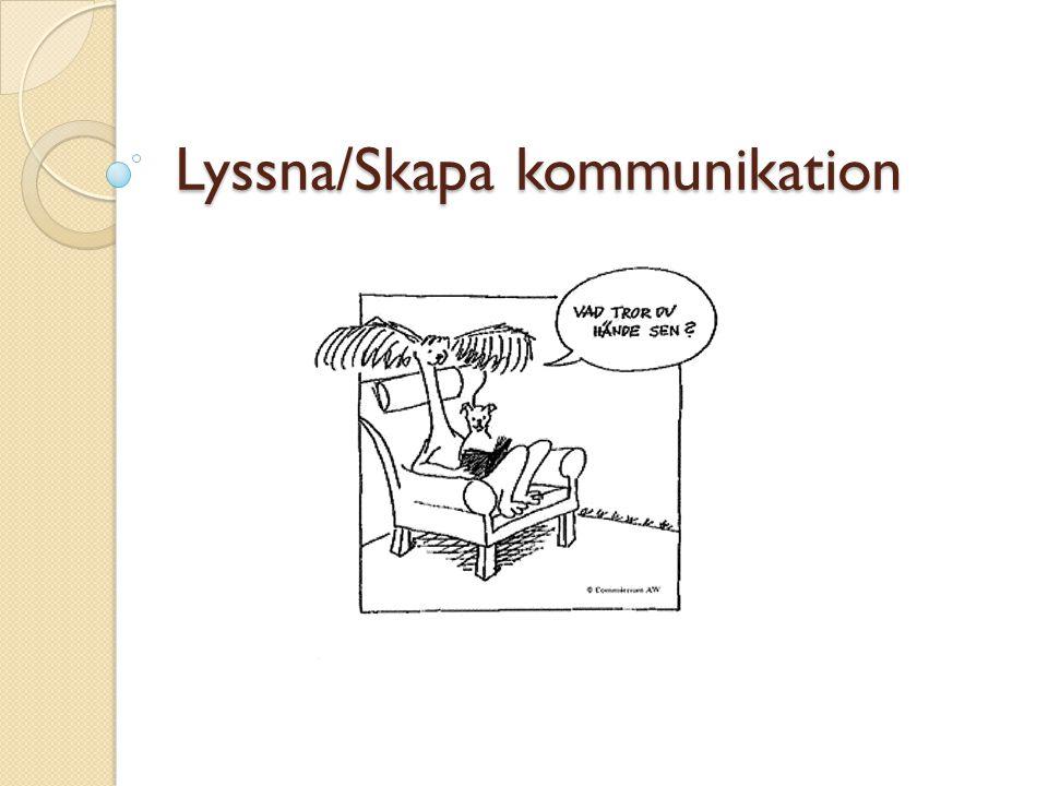 Lyssna/Skapa kommunikation