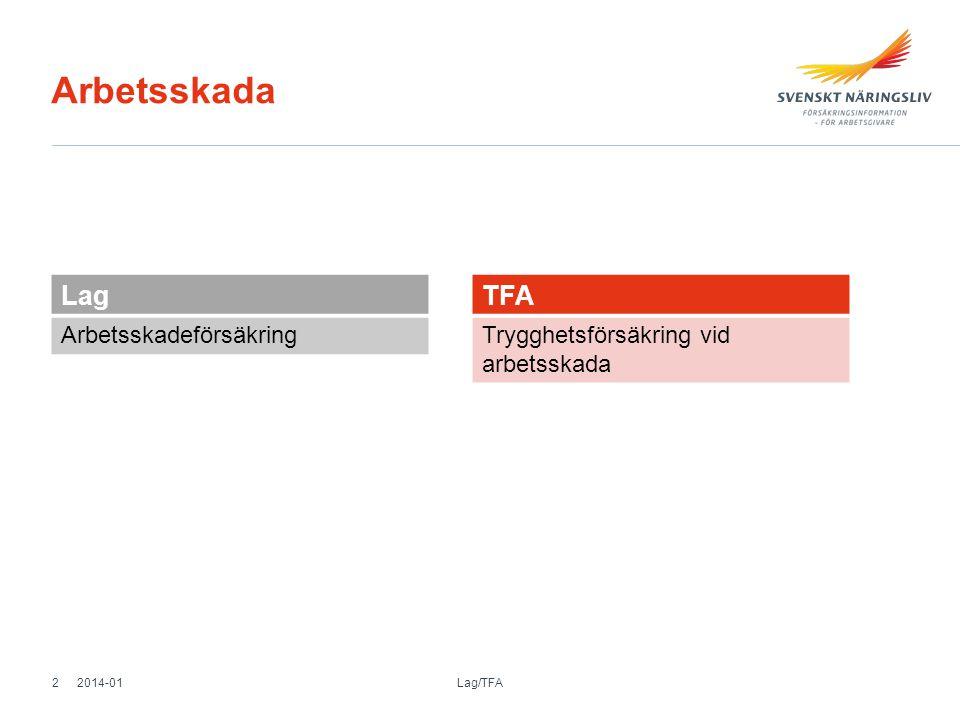 Arbetsskada Lag TFA Arbetsskadeförsäkring