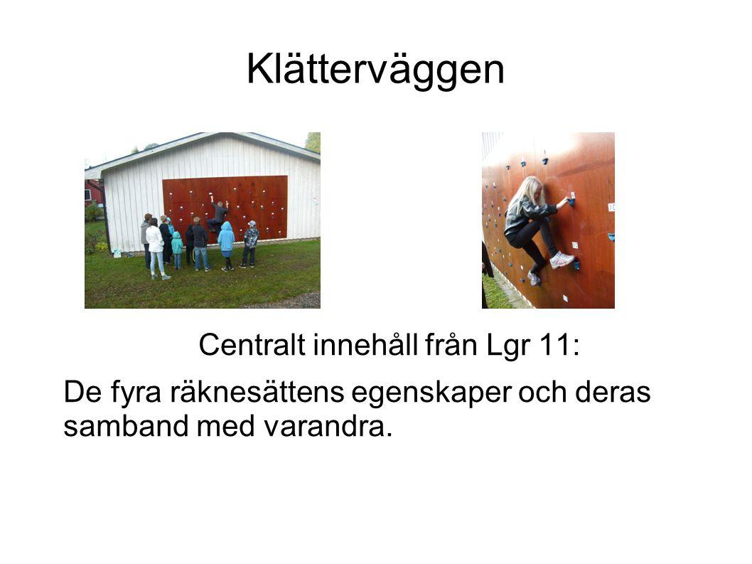 Klätterväggen Centralt innehåll från Lgr 11:
