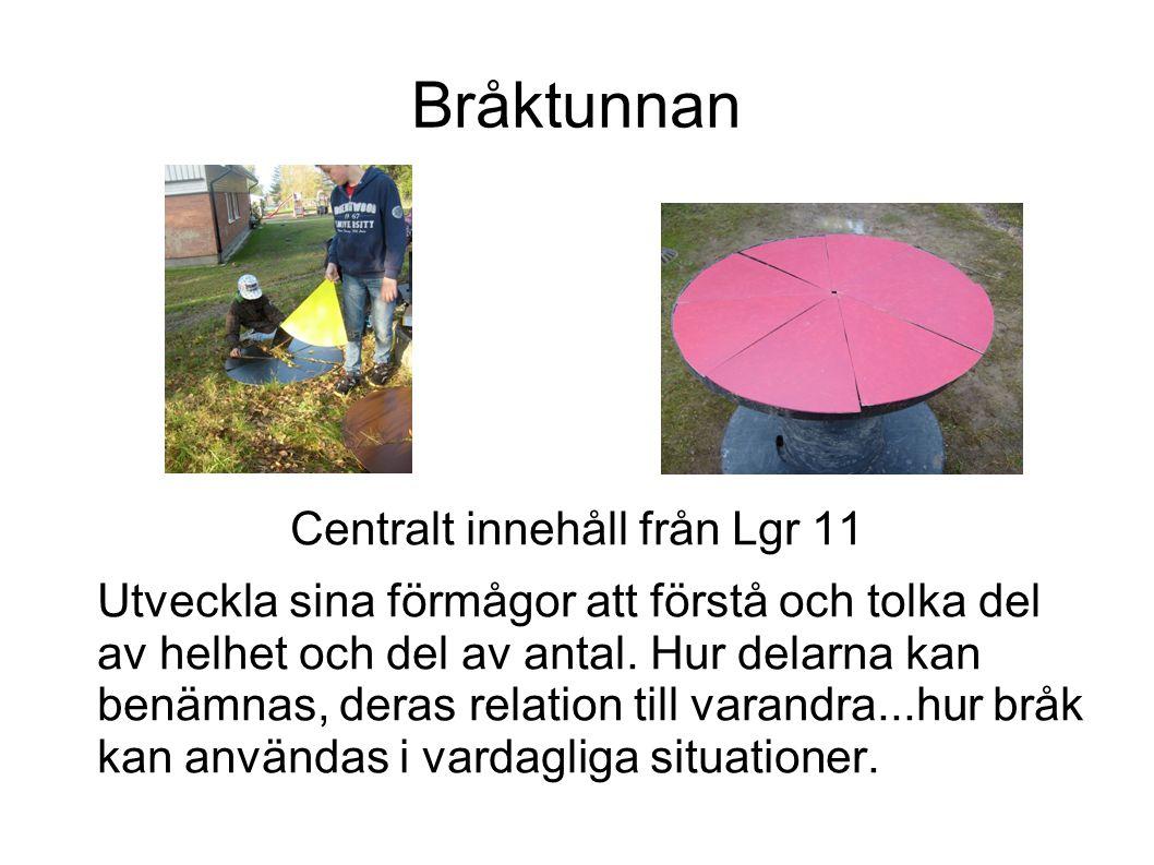 Centralt innehåll från Lgr 11