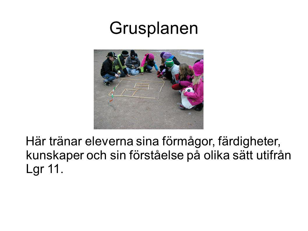 Grusplanen Här tränar eleverna sina förmågor, färdigheter, kunskaper och sin förståelse på olika sätt utifrån Lgr 11.