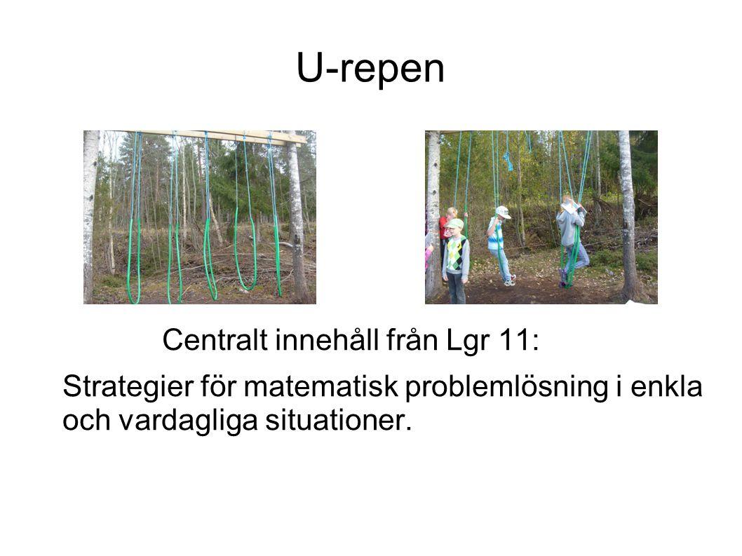 U-repen Centralt innehåll från Lgr 11: