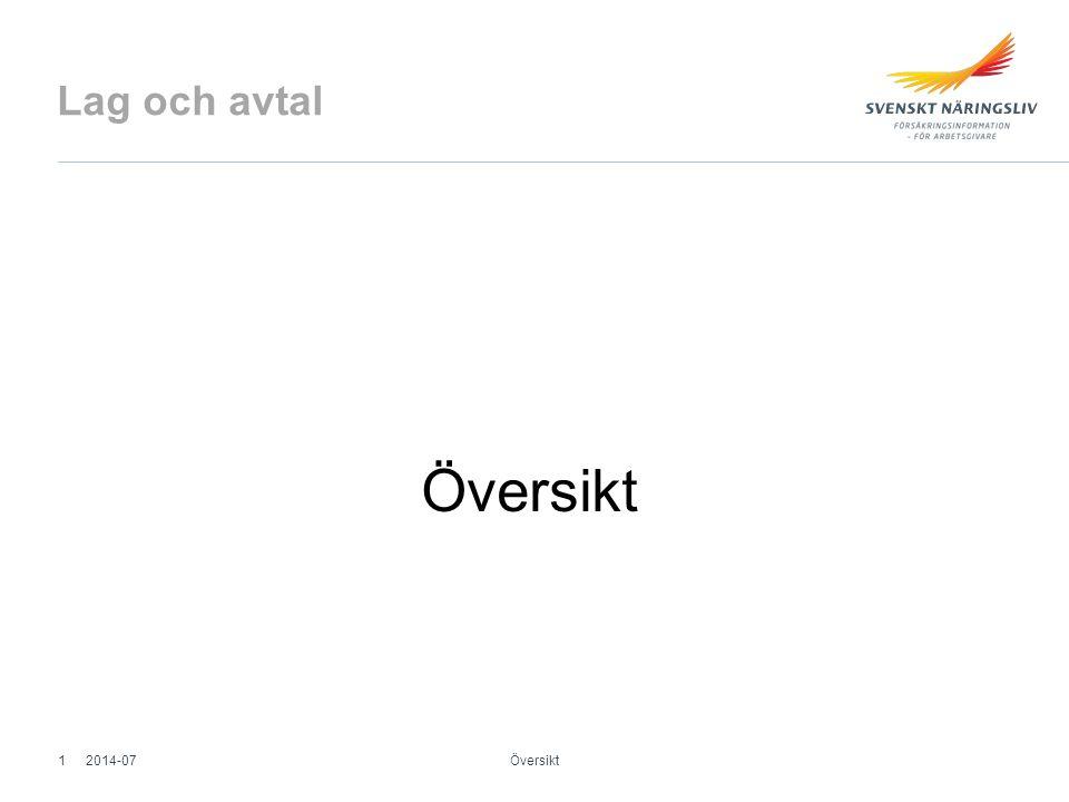 Lag och avtal Översikt 2014-07 Översikt