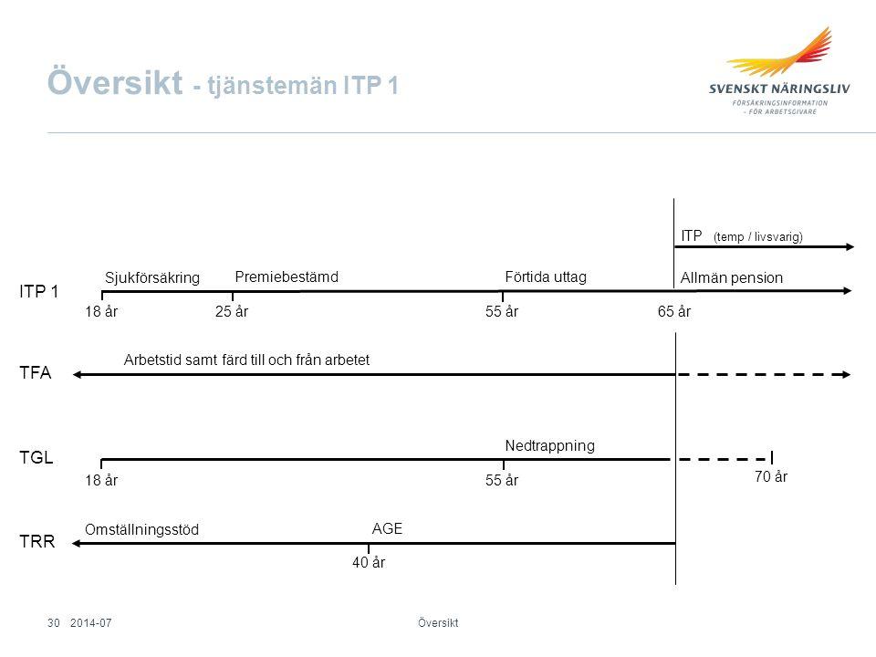 Översikt - tjänstemän ITP 1