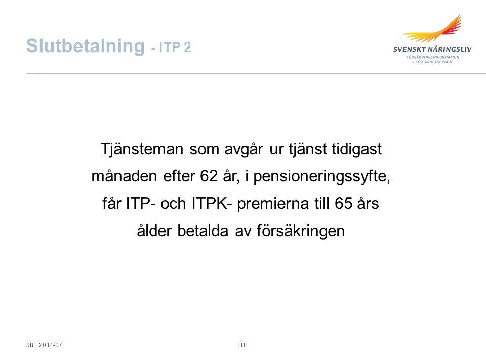 Slutbetalning - ITP 2
