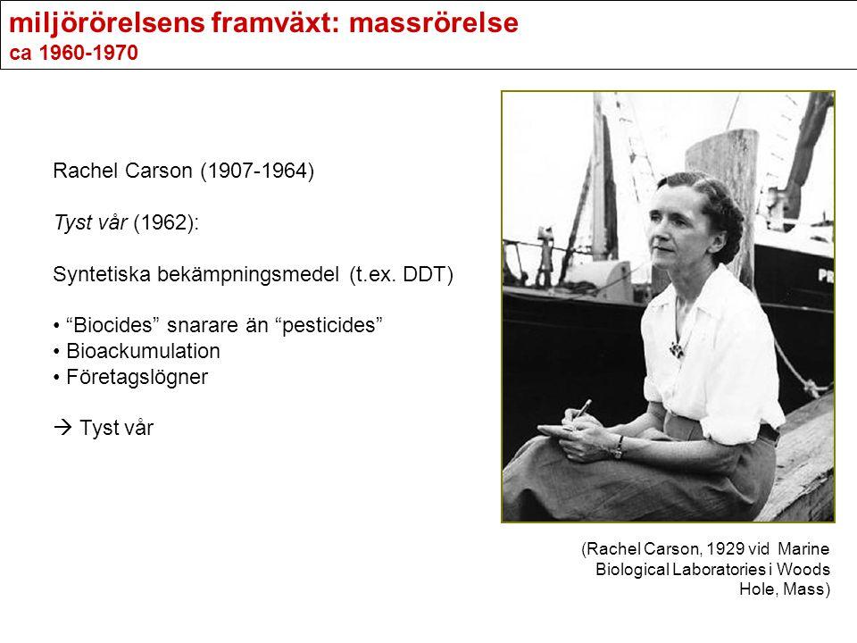 miljörörelsens framväxt: massrörelse ca 1960-1970