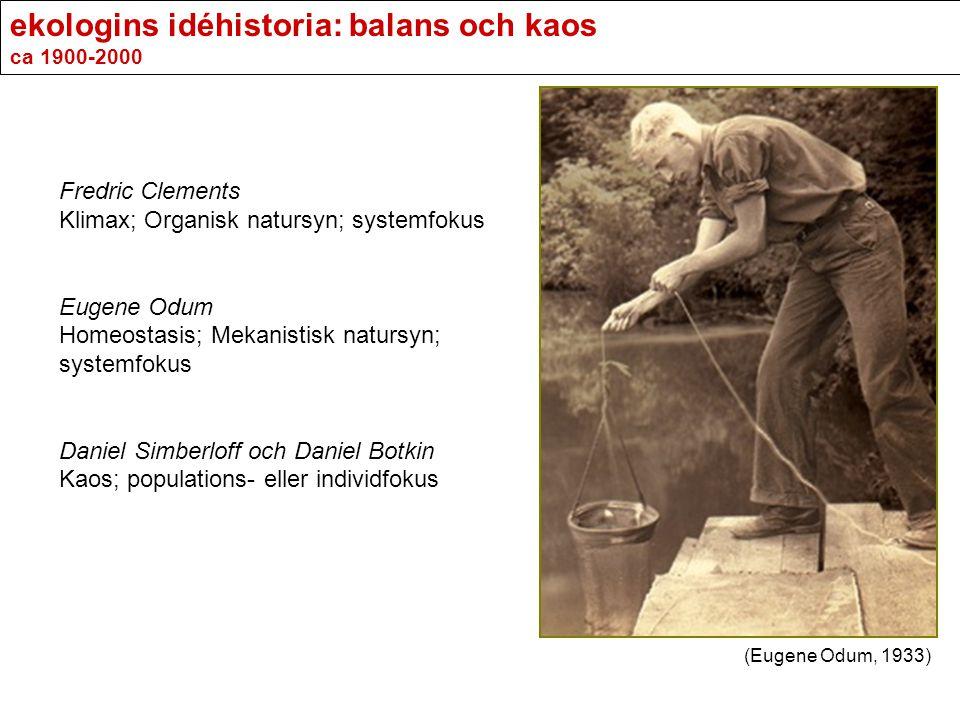 ekologins idéhistoria: balans och kaos ca 1900-2000