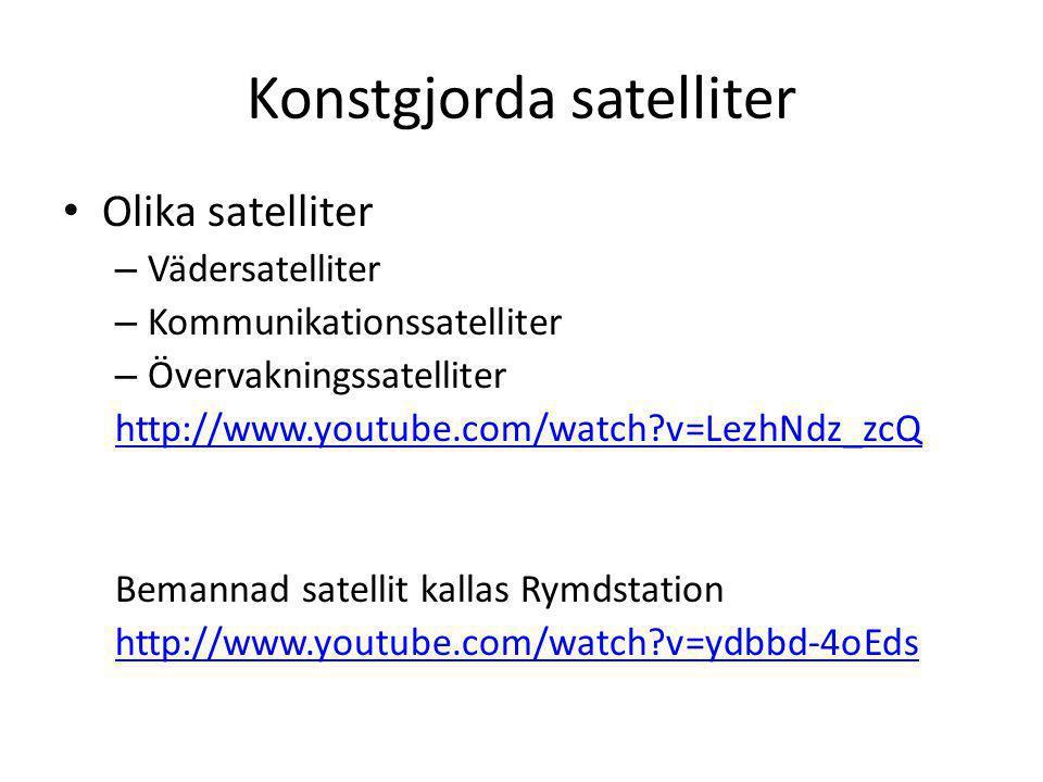 Konstgjorda satelliter