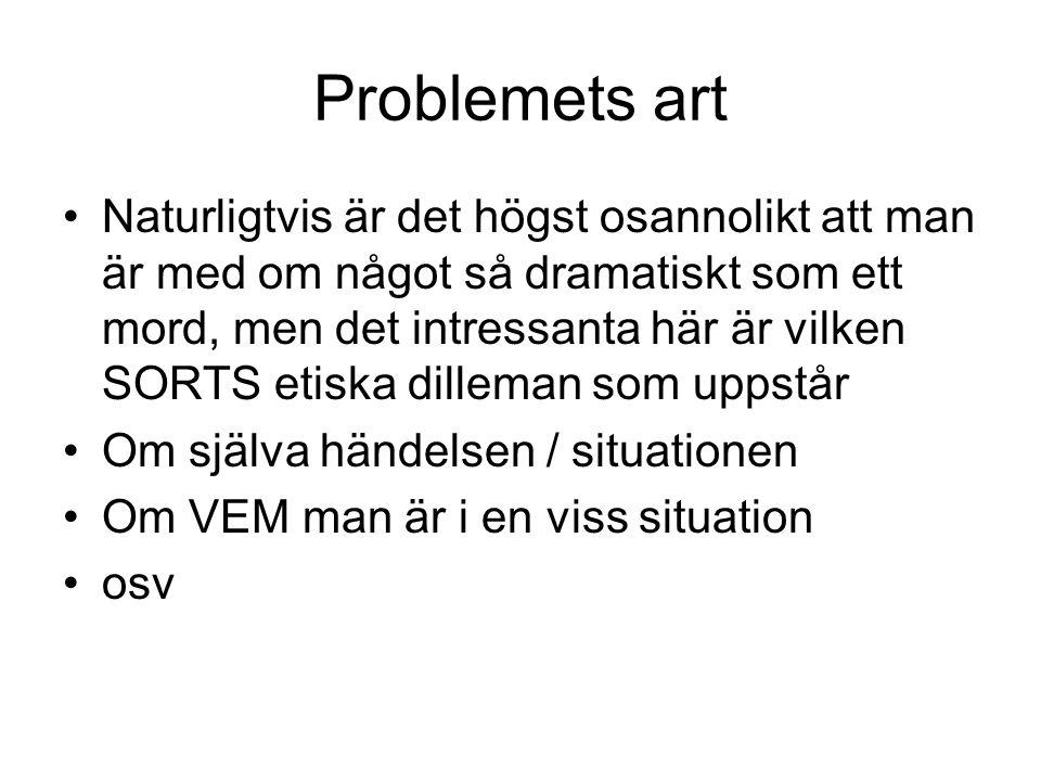 Problemets art