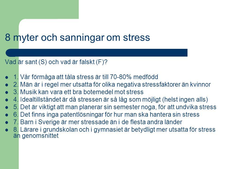 8 myter och sanningar om stress