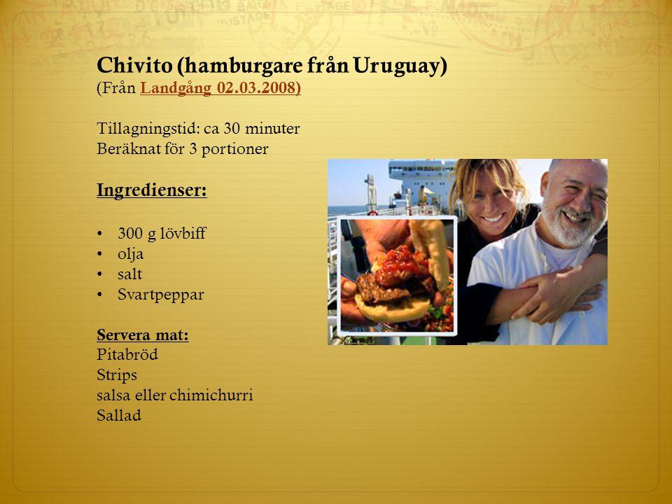 Chivito (hamburgare från Uruguay)