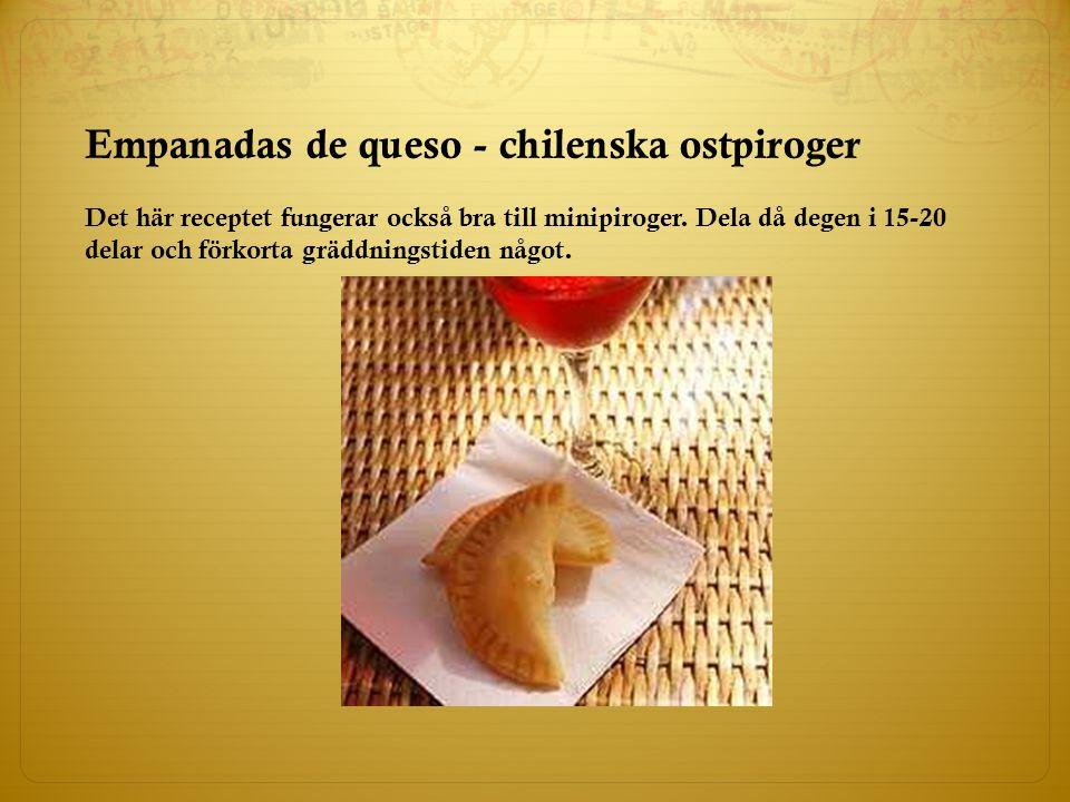 Empanadas de queso - chilenska ostpiroger
