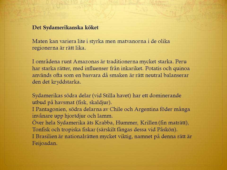 Det Sydamerikanska köket