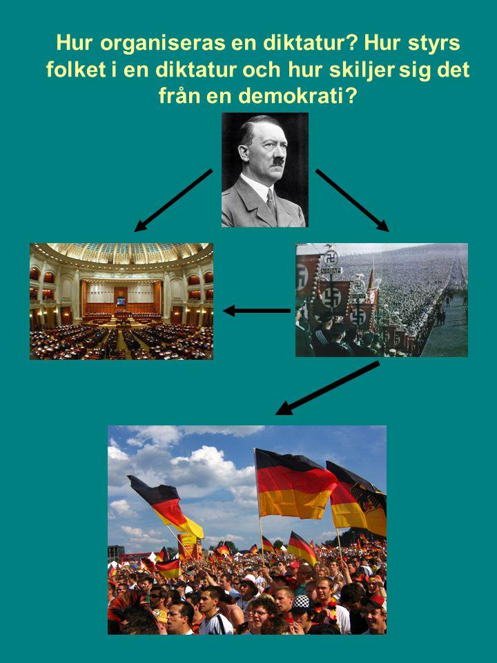 Hur organiseras en diktatur