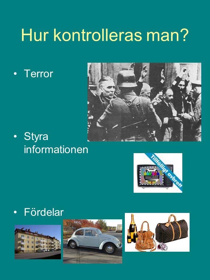 Hur kontrolleras man Terror Styra informationen Fördelar