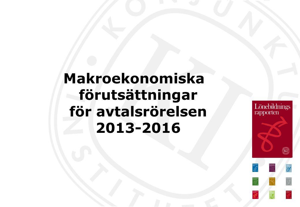 Makroekonomiska förutsättningar för avtalsrörelsen 2013-2016