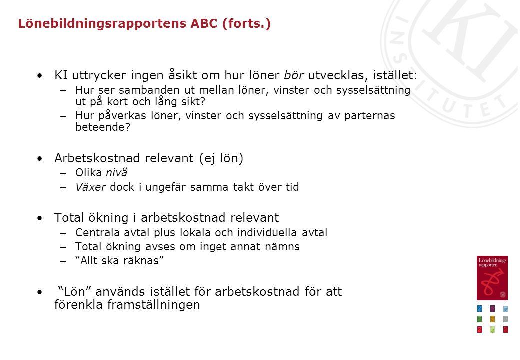 Lönebildningsrapportens ABC (forts.)