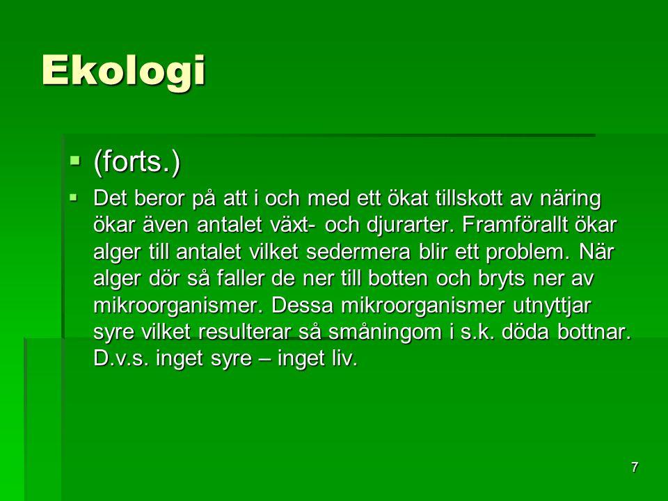 Ekologi (forts.)