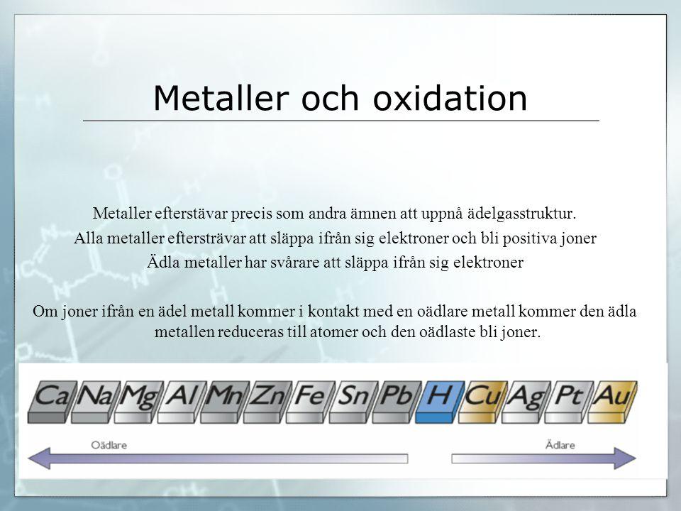 Metaller och oxidation