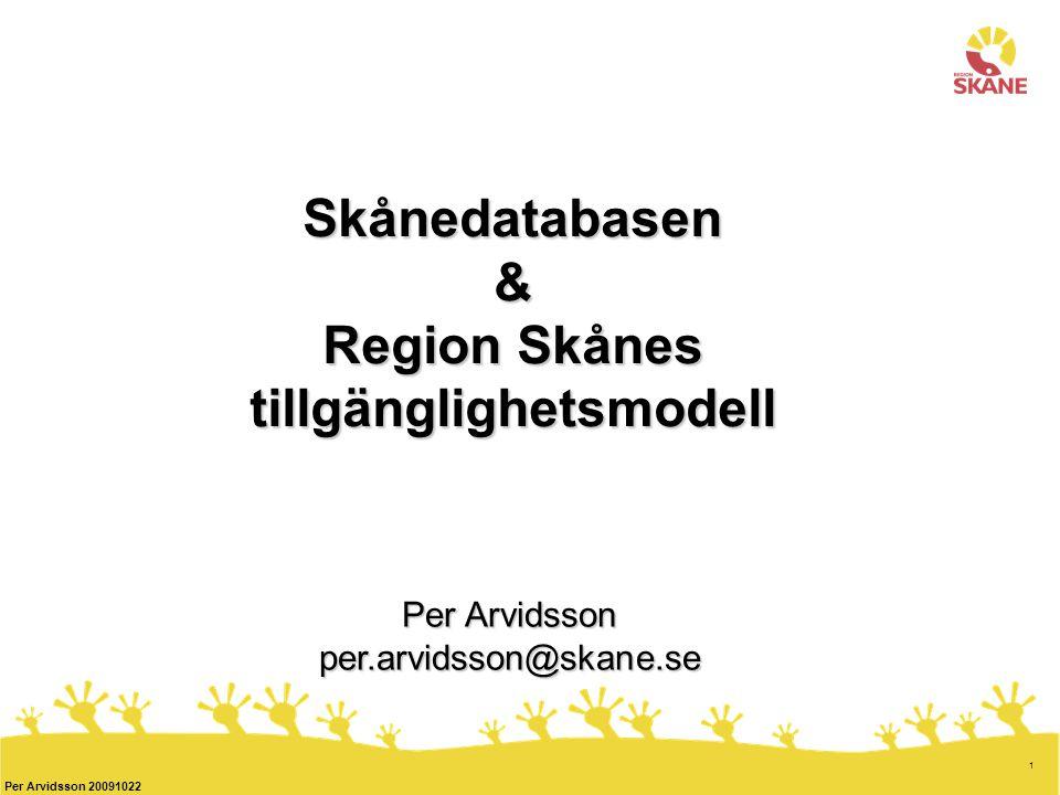 Skånedatabasen & Region Skånes tillgänglighetsmodell