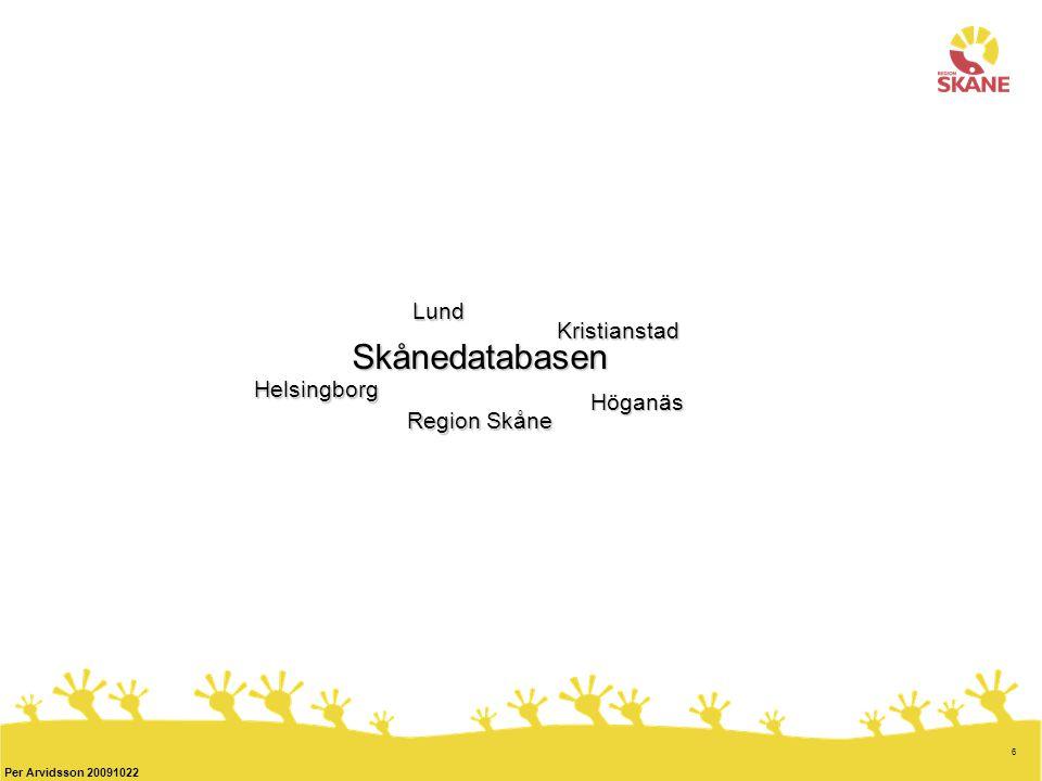 Lund Kristianstad Skånedatabasen Helsingborg Höganäs Region Skåne