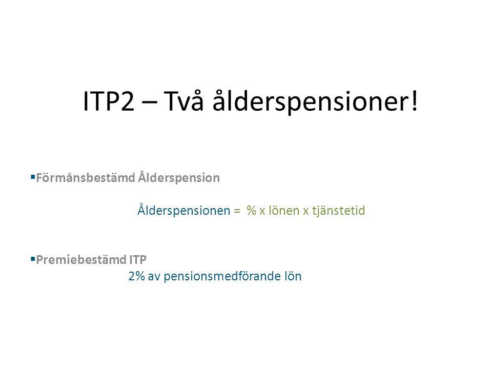 ITP2 – Två ålderspensioner!