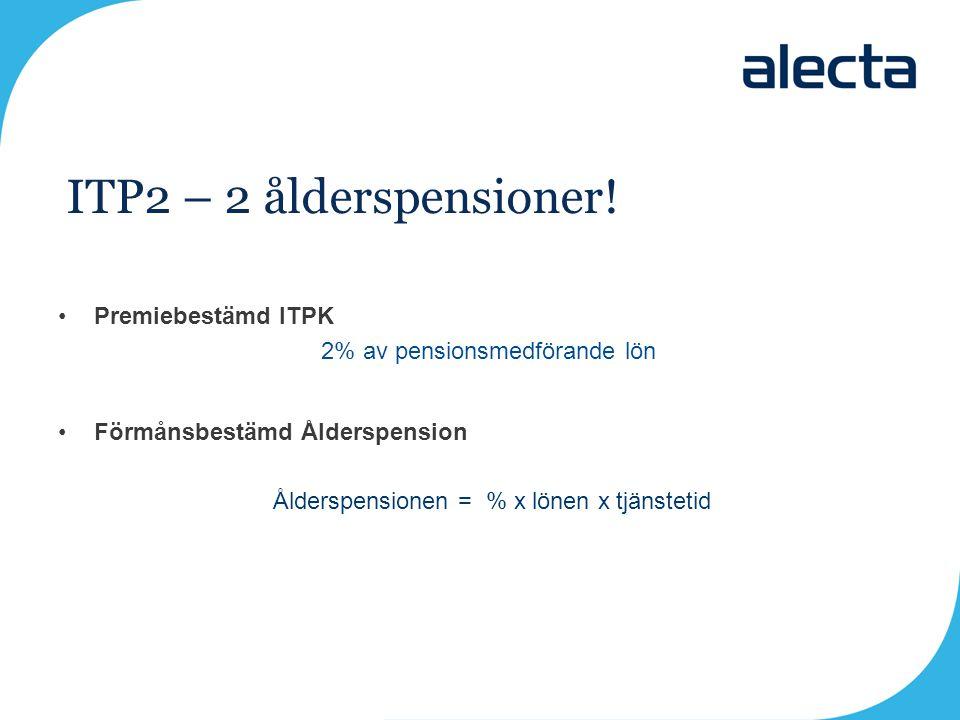 ITP2 – 2 ålderspensioner! Premiebestämd ITPK