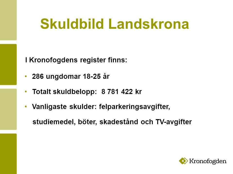 Skuldbild Landskrona I Kronofogdens register finns: