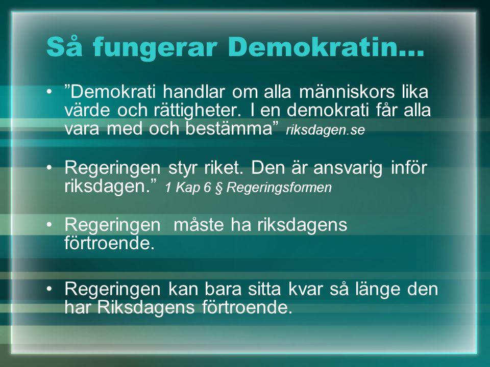 Så fungerar Demokratin…