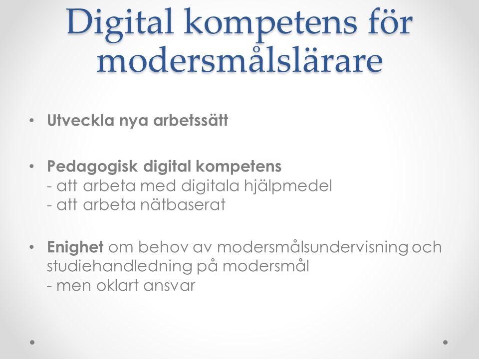 Digital kompetens för modersmålslärare