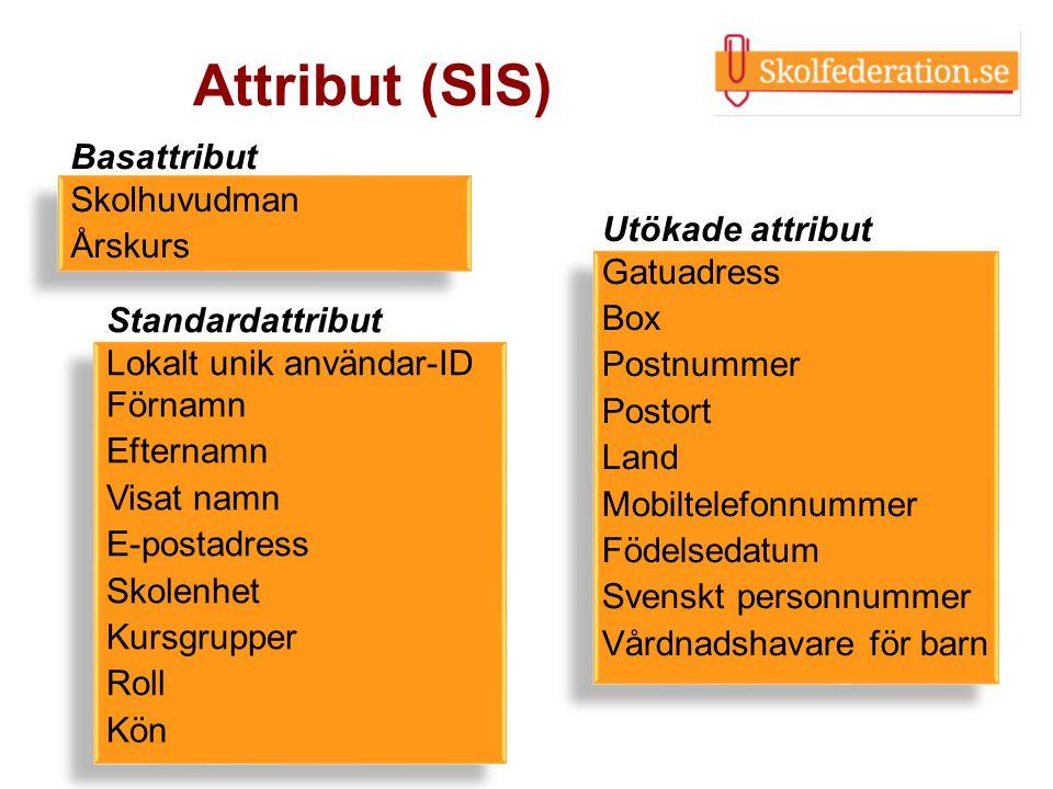 Attribut (SIS) Basattribut Skolhuvudman Årskurs