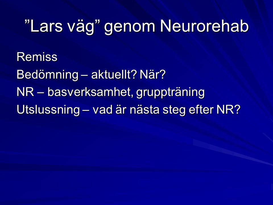 Lars väg genom Neurorehab