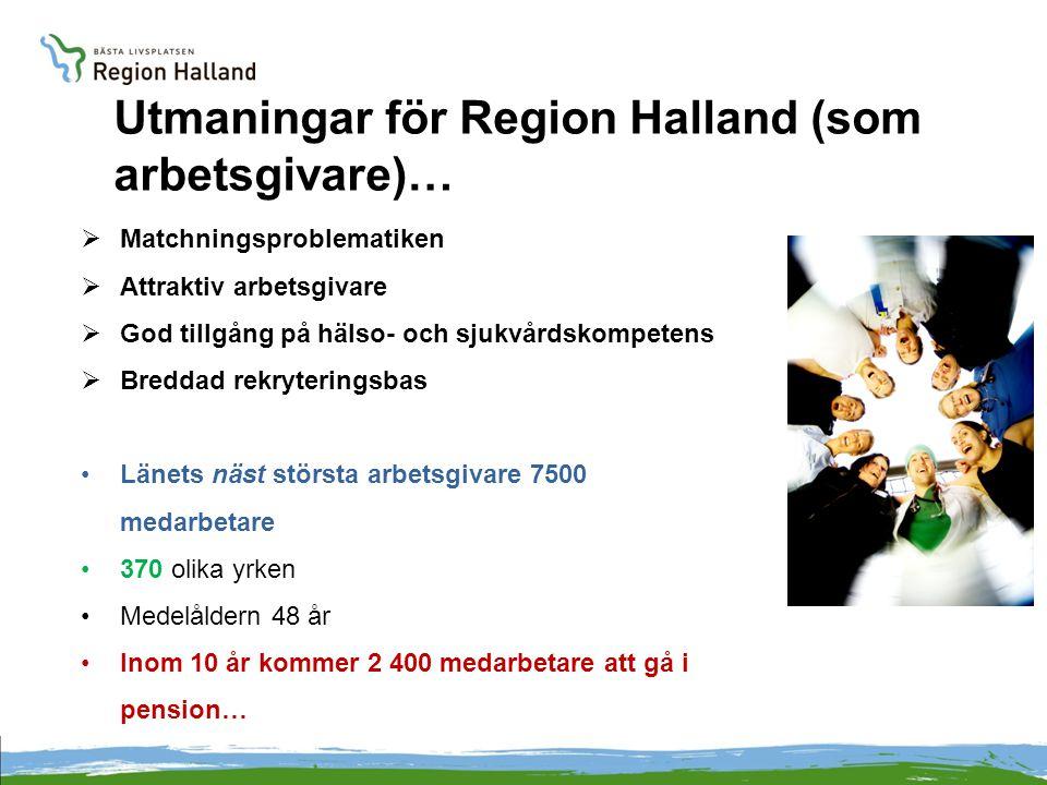 Utmaningar för Region Halland (som arbetsgivare)…