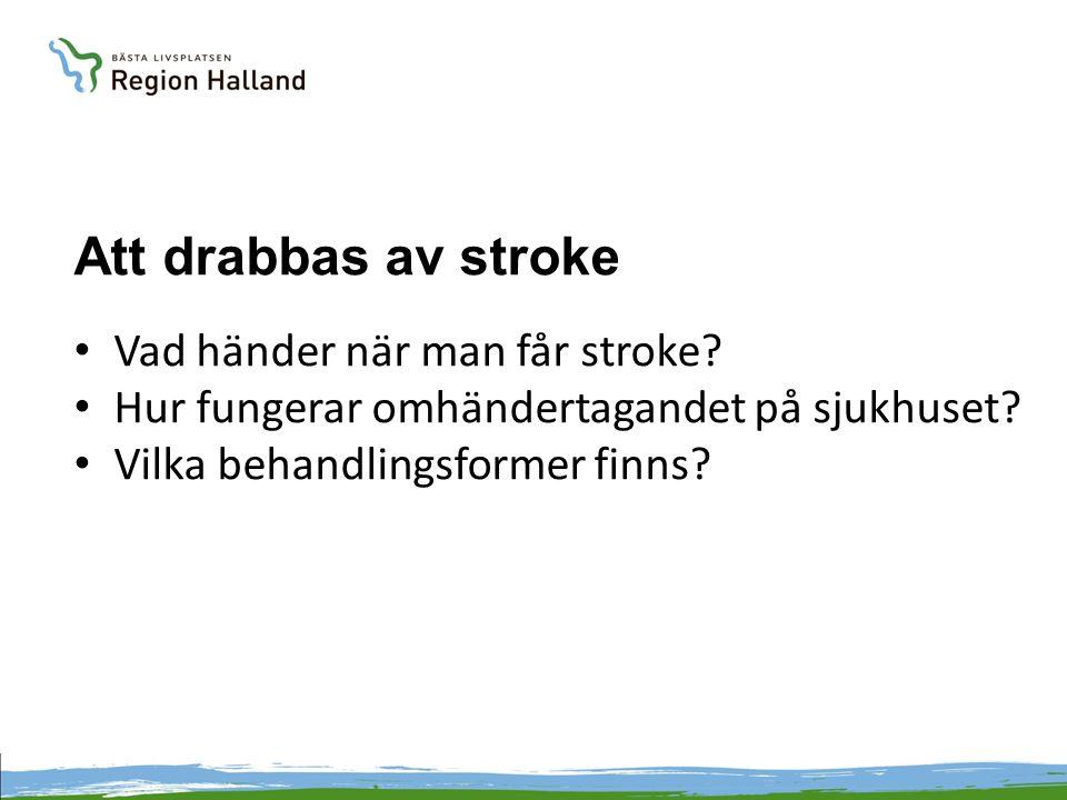 Att drabbas av stroke Vad händer när man får stroke