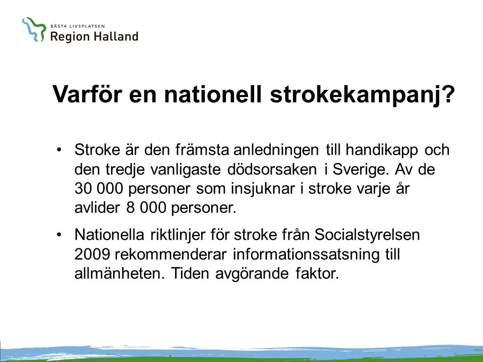 Varför en nationell strokekampanj