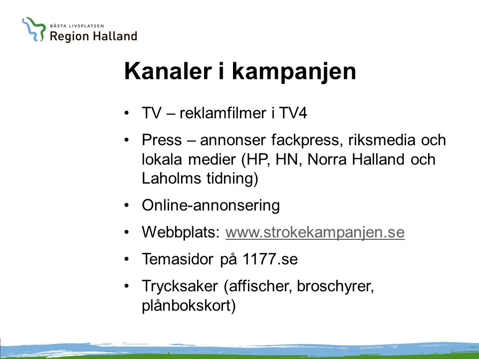 Kanaler i kampanjen TV – reklamfilmer i TV4