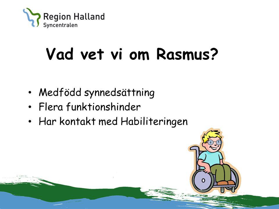Vad vet vi om Rasmus Medfödd synnedsättning Flera funktionshinder
