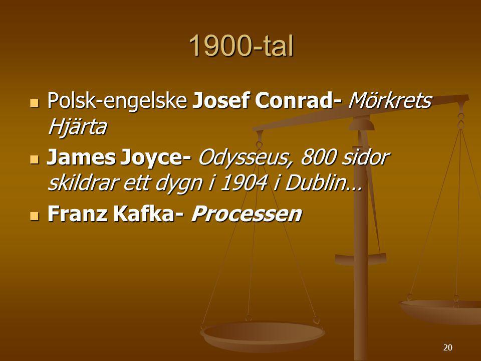 1900-tal Polsk-engelske Josef Conrad- Mörkrets Hjärta