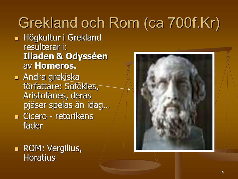Grekland och Rom (ca 700f.Kr)