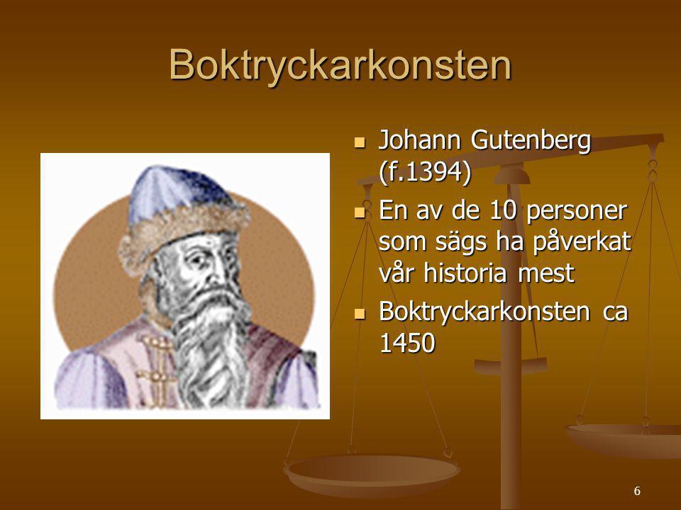 Boktryckarkonsten Johann Gutenberg (f.1394)